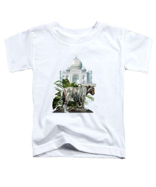 White Tiger And The Taj Mahal Image Of Beauty Toddler T-Shirt by Regina Femrite