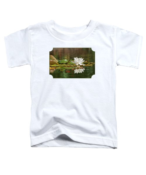 White Water Lily With Damselflies Toddler T-Shirt by Gill Billington