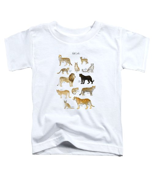 Wild Cats Toddler T-Shirt by Amy Hamilton