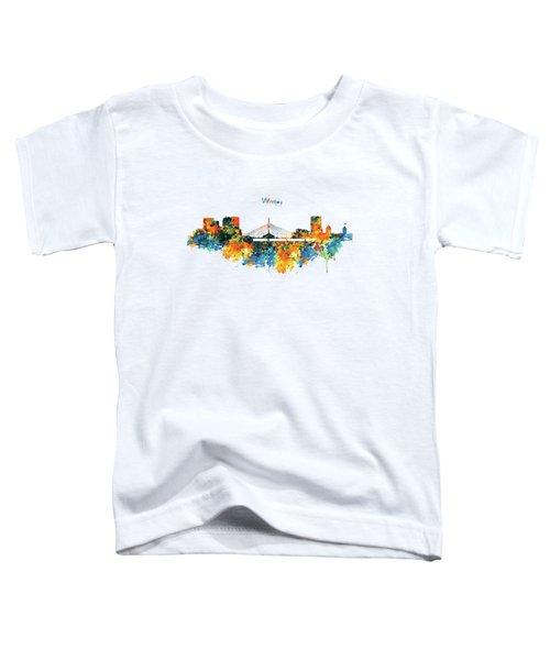 Winnipeg Skyline Toddler T-Shirt by Marian Voicu