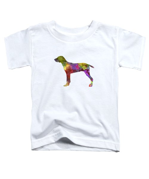 Wirehaired Slovakian Pointer In Watercolor Toddler T-Shirt by Pablo Romero