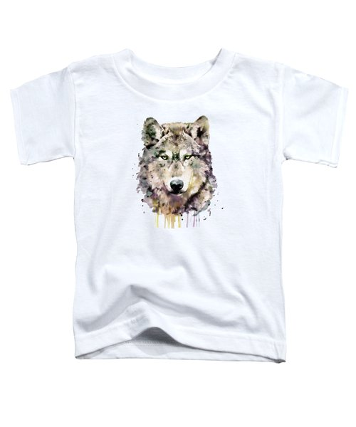 Wolf Head Toddler T-Shirt by Marian Voicu