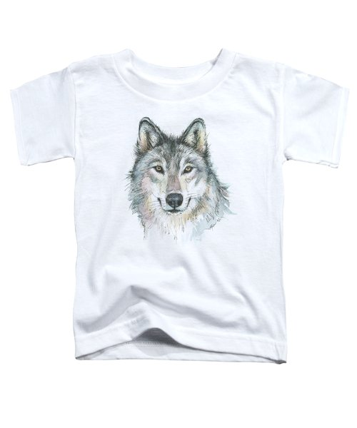 Wolf Toddler T-Shirt by Olga Shvartsur