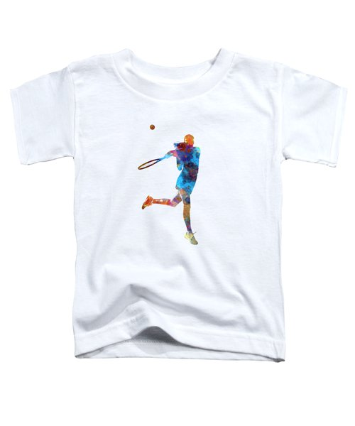 Woman Tennis Player 03 In Watercolor Toddler T-Shirt by Pablo Romero