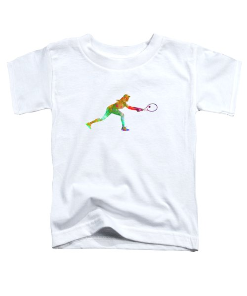 Woman Tennis Player Sadness 02 In Watercolor Toddler T-Shirt by Pablo Romero