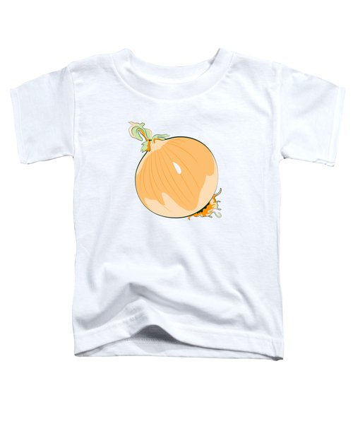 Yellow Onion Toddler T-Shirt by MM Anderson