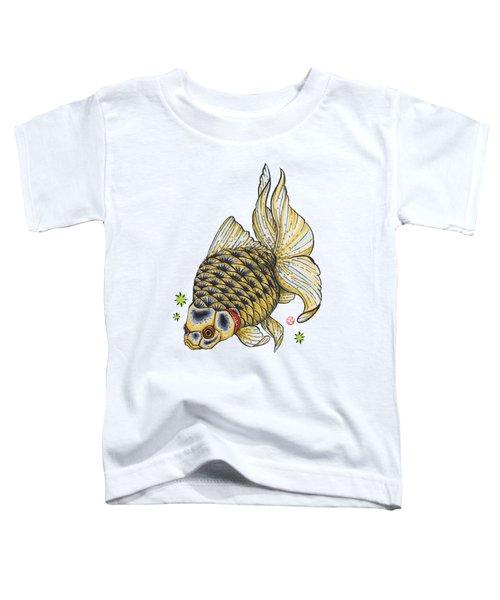 Yellow Ryukin Toddler T-Shirt by Shih Chang Yang