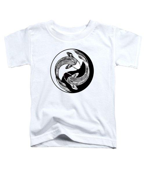 Yin Yang Fish Toddler T-Shirt by Stephen Humphries