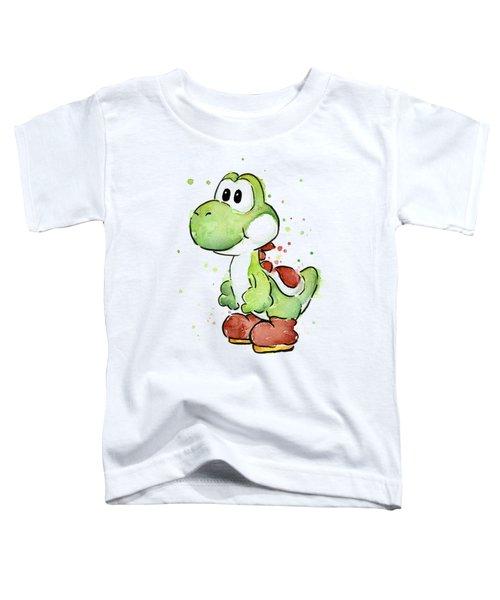 Yoshi Watercolor Toddler T-Shirt by Olga Shvartsur