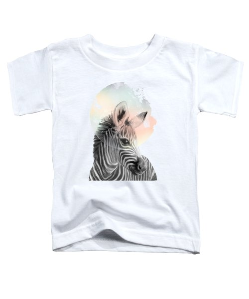 Zebra // Dreaming Toddler T-Shirt by Amy Hamilton