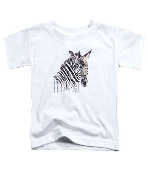 Zebra Head Toddler T-Shirt by Marian Voicu