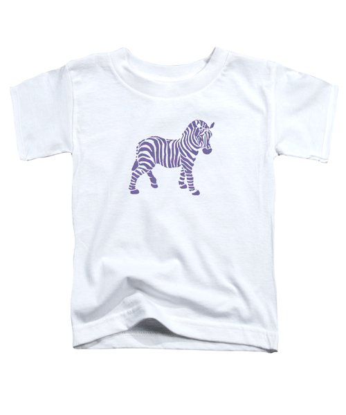 Zebra Stripes Pattern Toddler T-Shirt by Christina Rollo