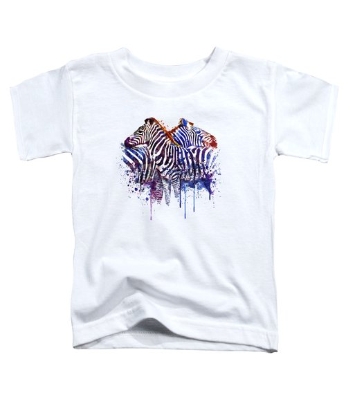 Zebras In Love Toddler T-Shirt by Marian Voicu