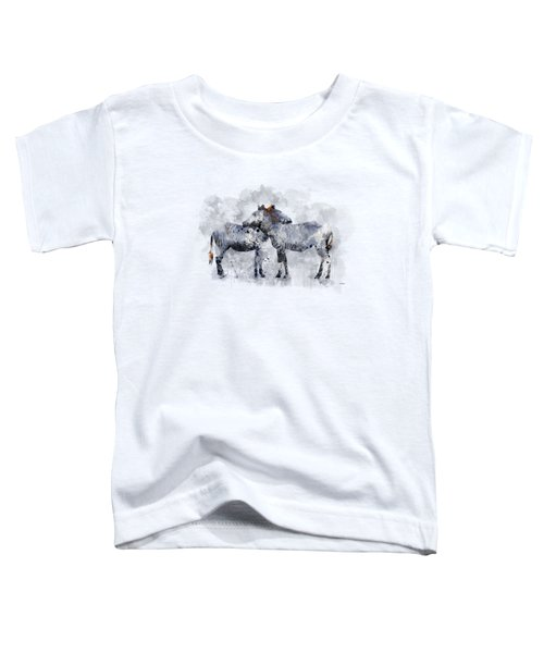 Zebras Toddler T-Shirt by Marlene Watson
