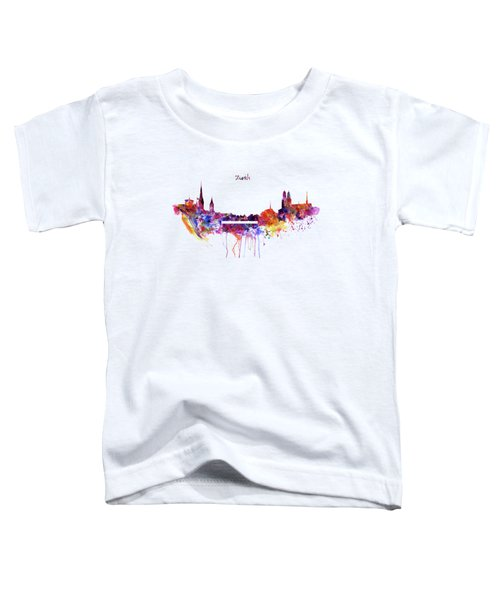 Zurich Skyline Toddler T-Shirt by Marian Voicu
