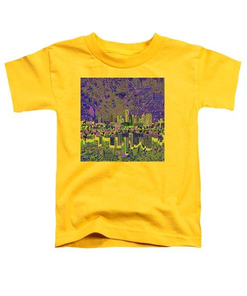 Austin Texas Skyline Toddler T-Shirt by Bekim Art