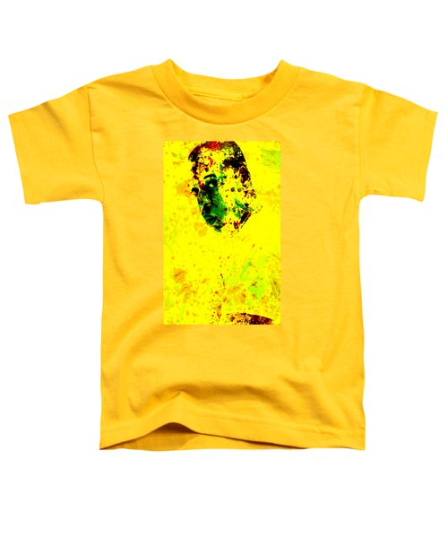 Jay Z Paint Splash Toddler T-Shirt by Brian Reaves