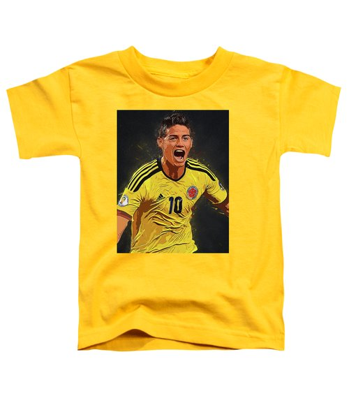 James Rodrigez Toddler T-Shirt by Semih Yurdabak