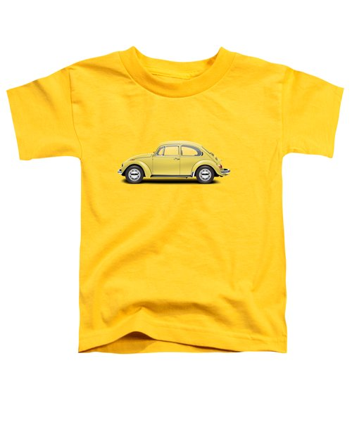 1972 Volkswagen Beetle - Saturn Yellow Toddler T-Shirt by Ed Jackson