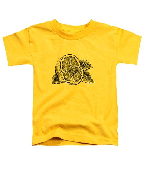 Lemon Toddler T-Shirt by Irina Sztukowski