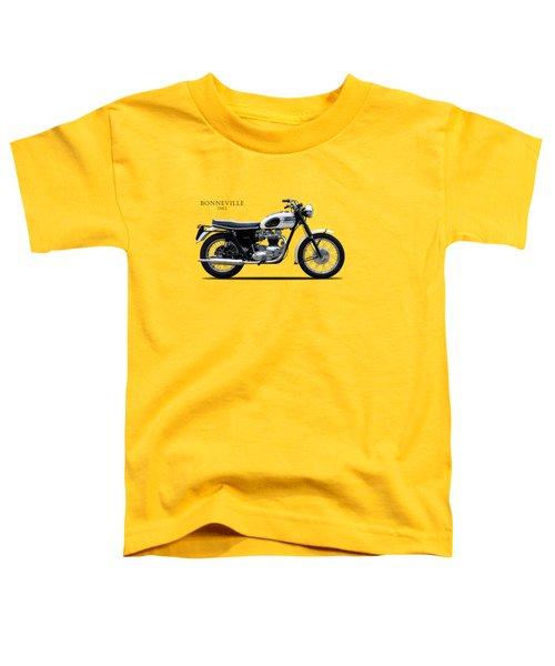 Triumph Bonneville 1963 Toddler T-Shirt by Mark Rogan