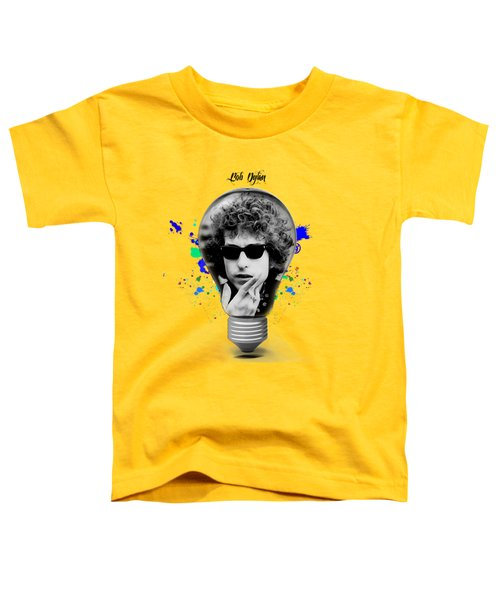 Bob Dylan Collection Toddler T-Shirt by Marvin Blaine