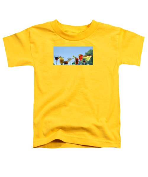 Alcoholic Beverages - Outdoor Bar Toddler T-Shirt by Nikolyn McDonald