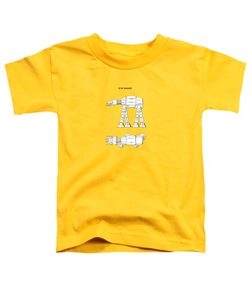 Star Wars - At-at Patent Toddler T-Shirt by Mark Rogan