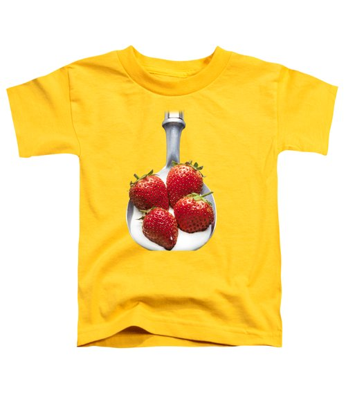 Strawberries N Cream Toddler T-Shirt by Jon Delorme