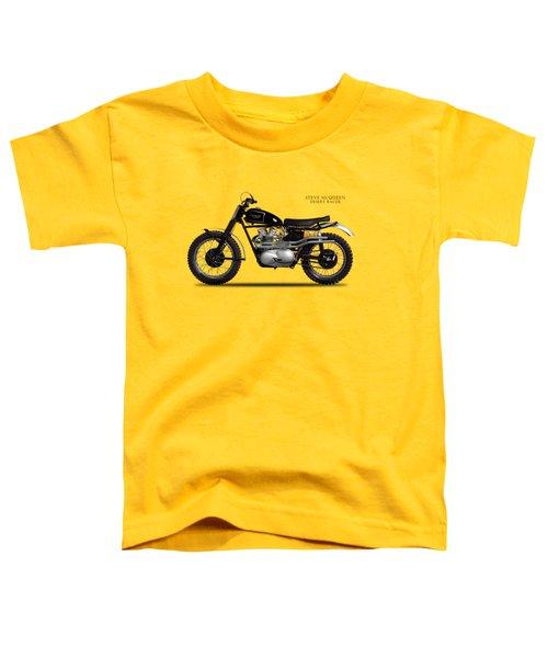 The Steve Mcqueen Desert Racer Toddler T-Shirt by Mark Rogan