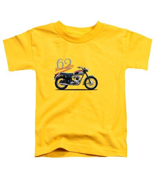 Bonneville T120 1962 Toddler T-Shirt by Mark Rogan