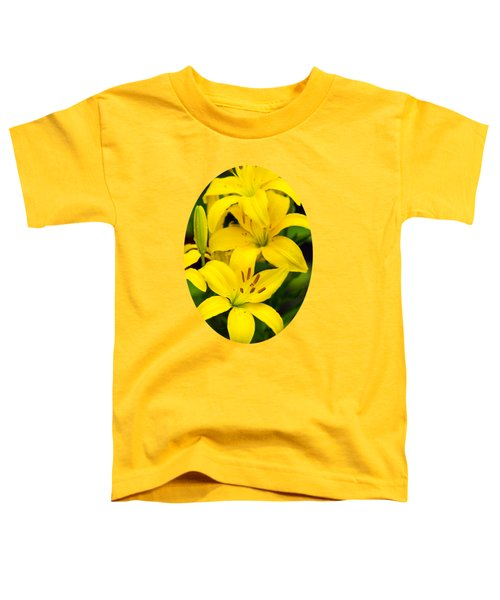 Yellow Lilies Toddler T-Shirt by Christina Rollo