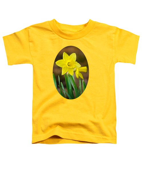 Beautiful Daffodil Flower Toddler T-Shirt by Christina Rollo