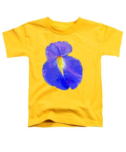 Big Mouth Iris Toddler T-Shirt by Marian Bell