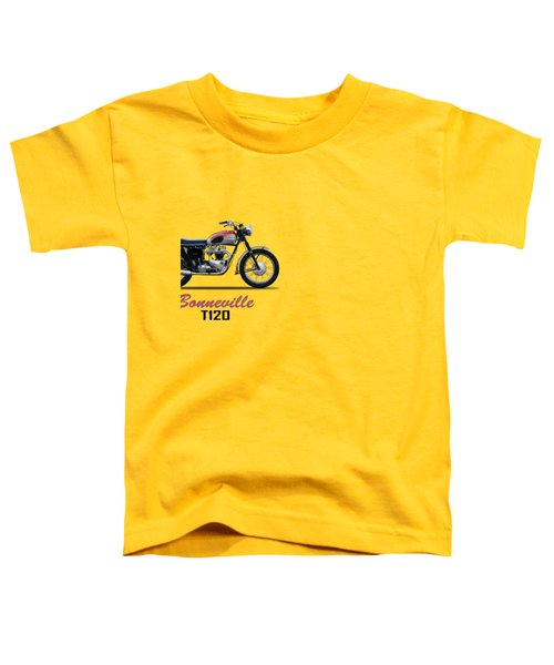 Bonneville T120 1962 Toddler T-Shirt by Mark Rogan