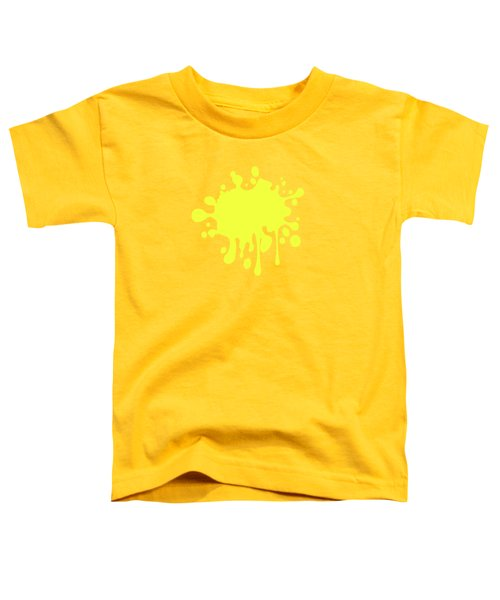 Canary Yellow Solid Color Decor Toddler T-Shirt by Garaga Designs
