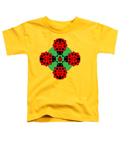 Five Lucky Ladybugs Toddler T-Shirt by John Groves