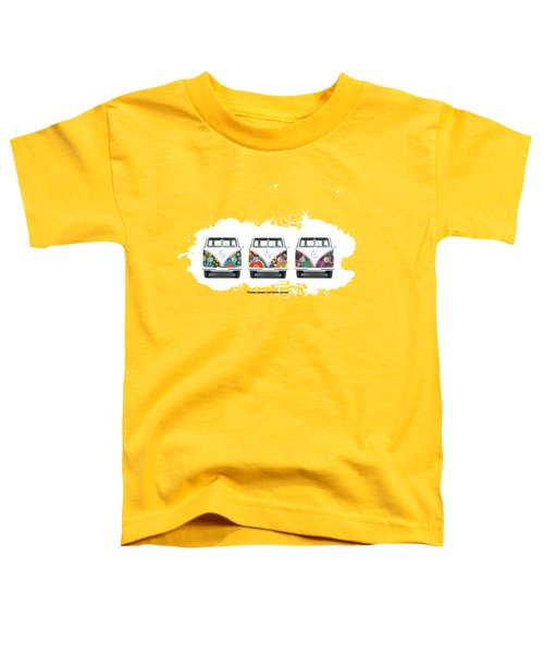 Flower Power Vw Toddler T-Shirt by Mark Rogan