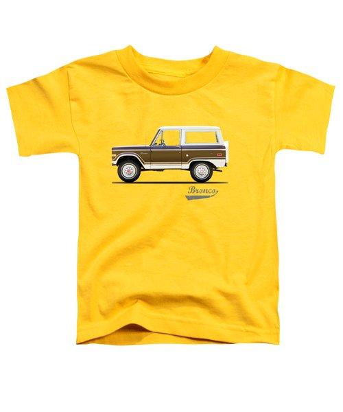 Ford Bronco Ranger 1976 Toddler T-Shirt by Mark Rogan
