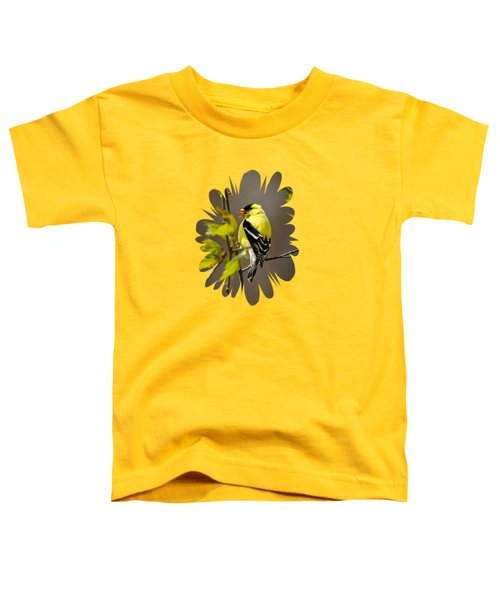 Goldfinch Suspended In Song Toddler T-Shirt by Christina Rollo