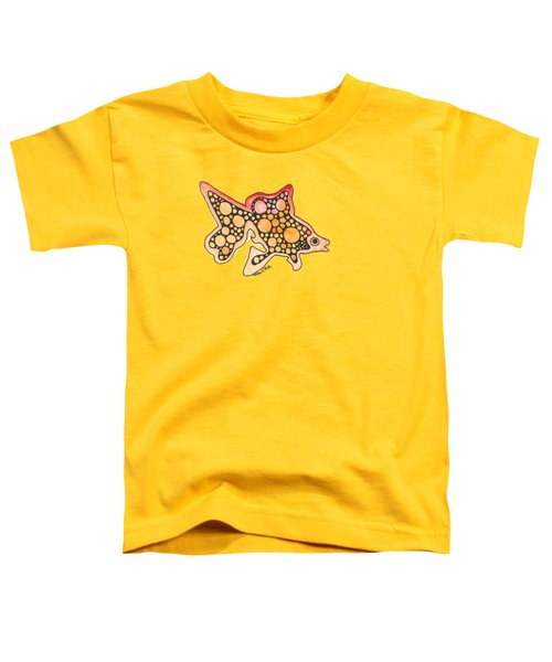 Goldfish Toddler T-Shirt by Petra Stephens