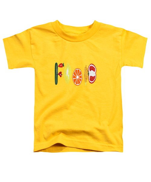 Good Eats Toddler T-Shirt by Kathleen Sartoris