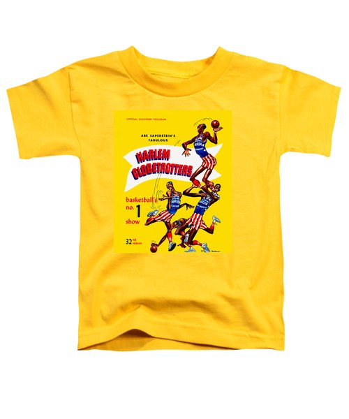 Harlem Globetrotters Vintage Program 32nd Season Toddler T-Shirt by Big 88 Artworks