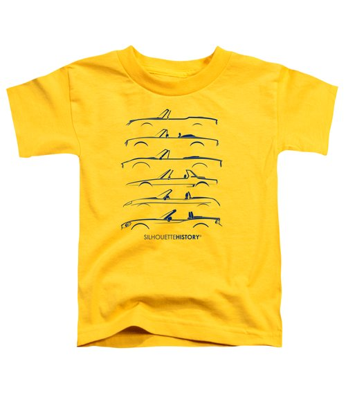 Italian Roadster Silhouettehistory Toddler T-Shirt by Gabor Vida