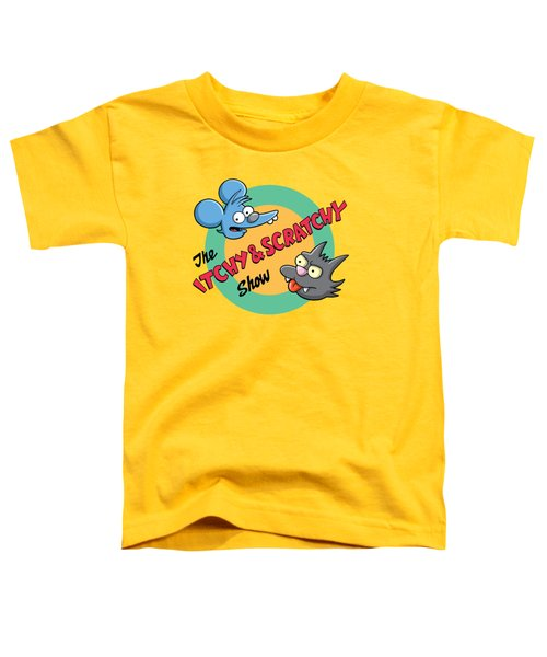 Itchy And Scratchy Toddler T-Shirt by Ian  King