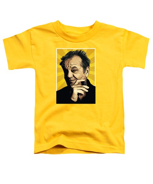 Jack Nicholson 3 Toddler T-Shirt by Semih Yurdabak