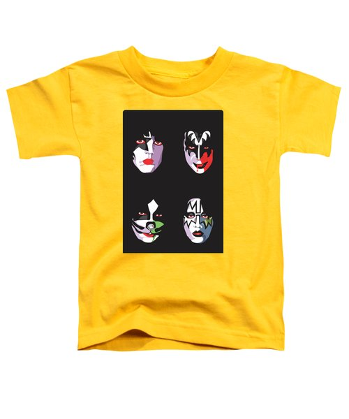 Kiss Toddler T-Shirt by Troy Arthur Graphics
