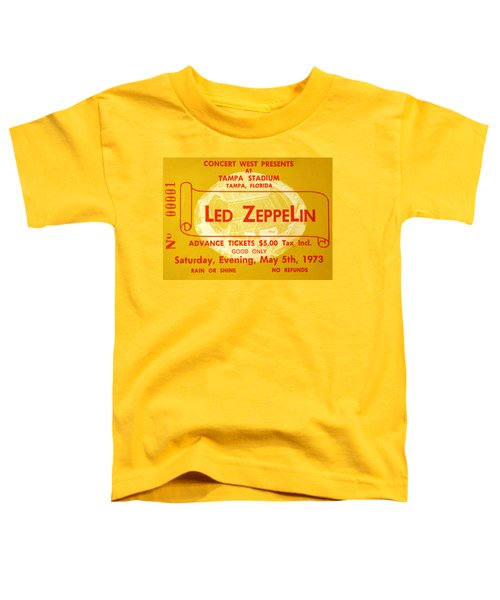 Led Zeppelin Ticket Toddler T-Shirt by David Lee Thompson