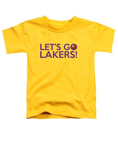 Let's Go Lakers Toddler T-Shirt by Florian Rodarte