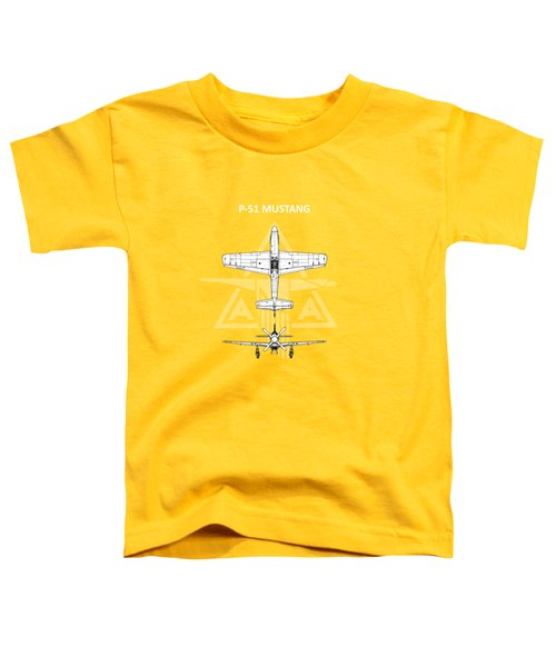 P-51 Mustang Toddler T-Shirt by Mark Rogan